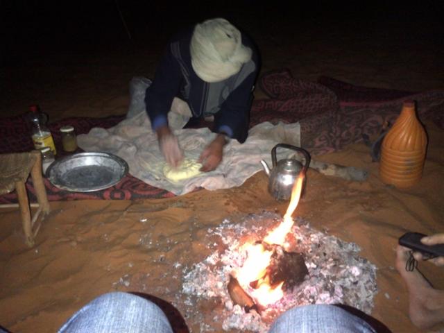 Making Berber bread