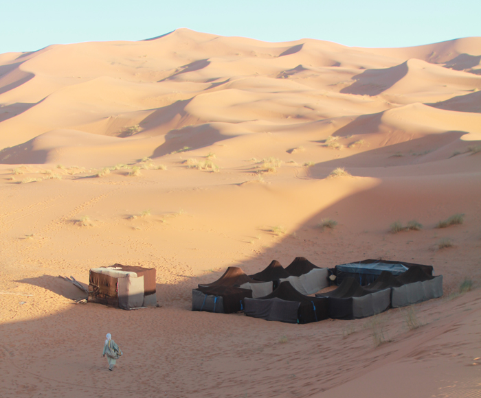 Our Berber camp, sheltered from the winds - and cellphone reception too.