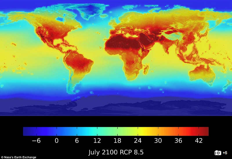 Average Forcasted Temperatures by 2100